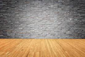 wood floor and wall background. Empty Top Of Wooden Floor And Natural Stone Wall Background Stock Photo -  47639416 Wood