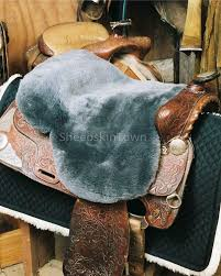 sheepskin western saddle seat cover