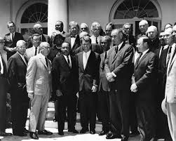 ar b martin luther king jr and civil rights leaders  ar7993 b martin luther king jr and civil rights leaders attorney general robert f kennedy and vice president lyndon b johnson