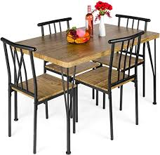 Best Choice Products <b>5</b>-<b>Piece</b> Metal and Wood Indoor <b>Modern</b> ...