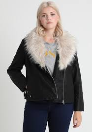 new look curves sara shawl collar faux leather jacket black womens clothing jackets leather