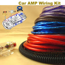 new car audio subwoofer sub amplifier amp rca wiring kit power car audio amp wiring kit