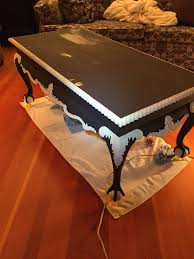 Coffee Table Painting A French Touch Revamping And Repurposing Vintage Furniture And A