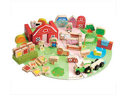 Wooden Farmyard Set. Animal Toys for 2 Year Olds Toy Farms Archives - Best Old