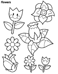 Small Picture Color cut out and play with this spring flowers coloring page