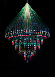 fishing floats for a chandelier why not