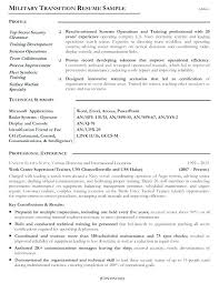 Military Resume Template Resume Templates For Military To Civilian