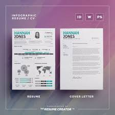 Infographic Resume Vol 2 Word Indesign And Photoshop Etsy Trc