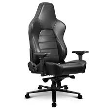 ZQRacing Hyper Luxury <b>Real Leather</b> Gaming Office <b>Chair</b>-<b>Black</b> ...