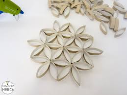 Paper Art Flower Wall Art How To Make Flower Of Life Out Of Toilet Paper Rolls