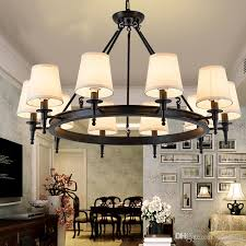 pendant light american country living room lights hang lamps chandelier crystal simple iron dining room bedroom study room modern hanging light fixtures