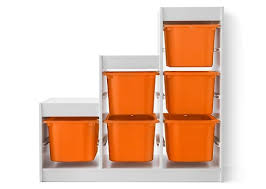 ikea childrens storage furniture. Contemporary Furniture This Storage Combination Is A White TROFAST Frame With Orange Boxes Thatu0027s  Slanted On One Side Intended Ikea Childrens Storage Furniture S