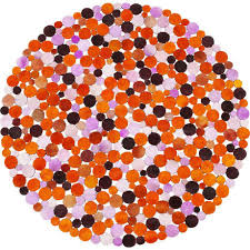 <b>Ковер Circles</b> оранжевого цвета — купить по цене 48110 руб в ...