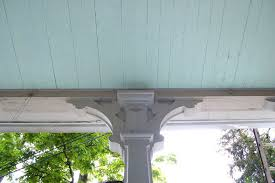 color diary blue porch ceilings