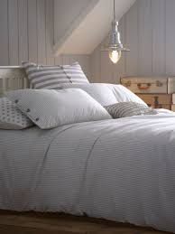 gray duvet cover ticking stripe grey double duvet cover jigsaw ticking stripe bed linen
