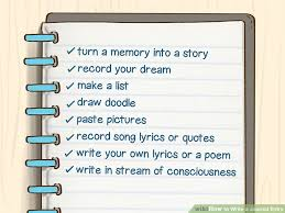 Personal Journaling How To Write A Journal Entry With Sample Entries Wikihow