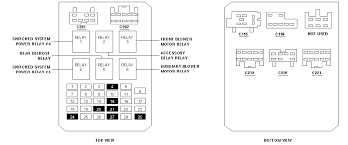 diagram of the fuse boxes for 1999 ford windstar  at Ford Windstar Fuse Box Diagram Fuel Pump Relay
