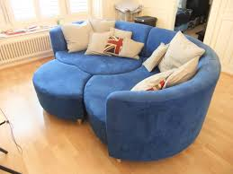 Inspirational Creative Design Round Shape Sectional Blue Vinyl Cool