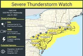 N.J. weather: Severe thunderstorm watch ...