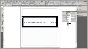 How to Create Text Frames in InDesign YouTube