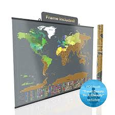 Large Us Map Poster Large Scratch Off World Map Poster Detailed Peel Off Map