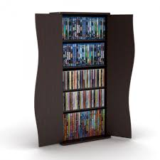 furniture cool dark brown solid wood dvd cupboard storage with two symmetric door design as living room decorating ideas for your home theatre and