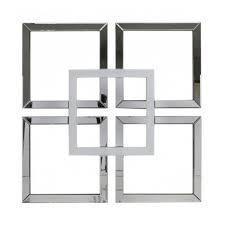 mirror wall art. white manhattan geo mirror wall art m
