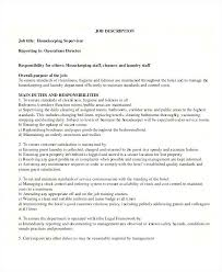Job Description For Housekeeping Zromtk Delectable Housekeeper Resume