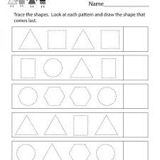 Shape Patterns Amazing Geometry Patterns Worksheet Free Kindergarten Math Worksheet For