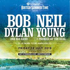 Image result for neil young bob dylan hyde park