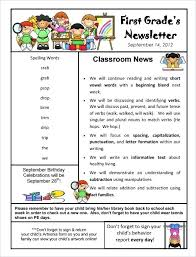 School Newsletter Template For Word Free Newsletter Templates For Work School And Classroom Preschool