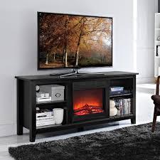 walker edison furniture company essential black fire place entertainment center