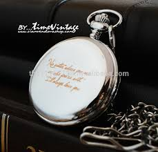 Watch Engraving Quotes Beauteous Personalized Laser Engraving Pocket Watch Gift For Any Special