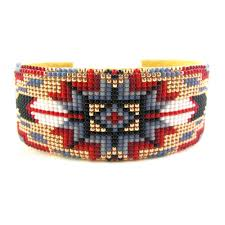 navajo bead designs. This Bold Cuff Was Made By Navajo Artist Iris Nathaniel And Features A Central Geometric Star. Bead PatternsPeyote Designs T
