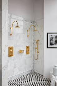 a favorite double shower featuring our henry fittings