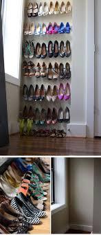 diy shoe shelf ideas. tension rod shoe storage | 22 diy ideas dollar stores diy shelf r