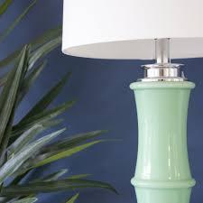 bamboo green table lamp