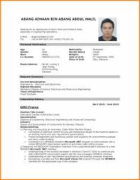 8 Biodata Sample Format For Job Application Assembly Resume