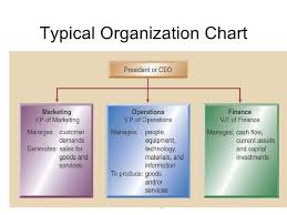 Typical Organizational Chart For Operations Management Introduction To Operations Management