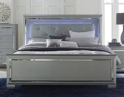Led Bedroom Furniture Homelegance Allura Bed With Led Lighting Silver 1916 1 At