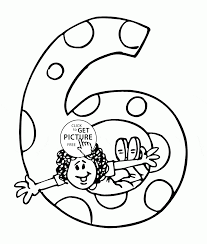 6th Birthday Coloring Page For Kids