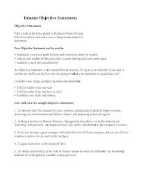 work statements examples objective statements for resume internship writing a good on purpose