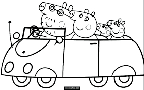 Peppa Pig Coloring Games Together With Color Pages To Print