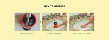 high pressure powerful manual sink plunger toilet bathtub clog remover red