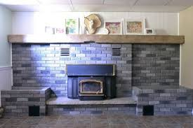 gray washed brick fireplace