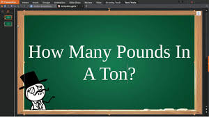 Pounds To Tons Chart