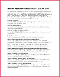 Sample Of Literature Review Apa Style Example Of Literature Review Template Business