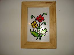 Very Simple Design Glass Painting