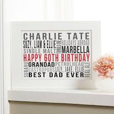 personalized 60th birthday gift ideas for him