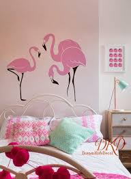 pink flamingo decal flamingo wall